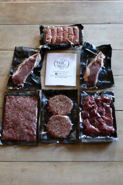 Selection of buffalo meats